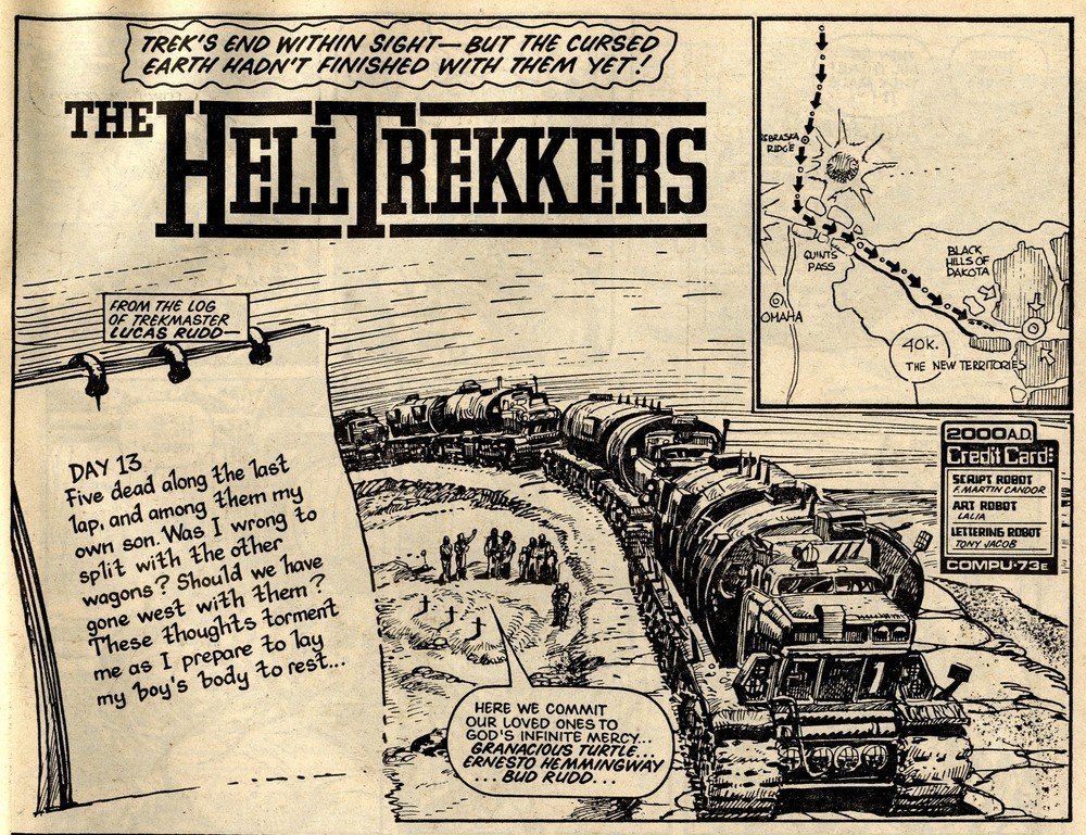 Hell-trekkers: John Wagner and Alan Grant (writers), Horacio Lalia (artist)