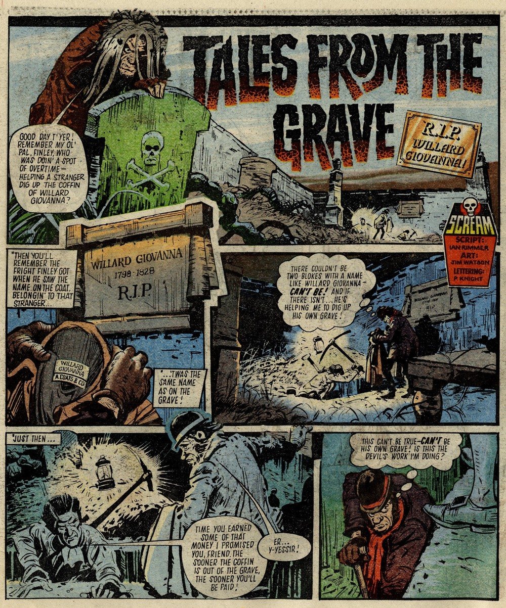 Tales from the Grave: RIP Willard Giovanna: Ian Rimmer (writer), Jim Watson (artist)