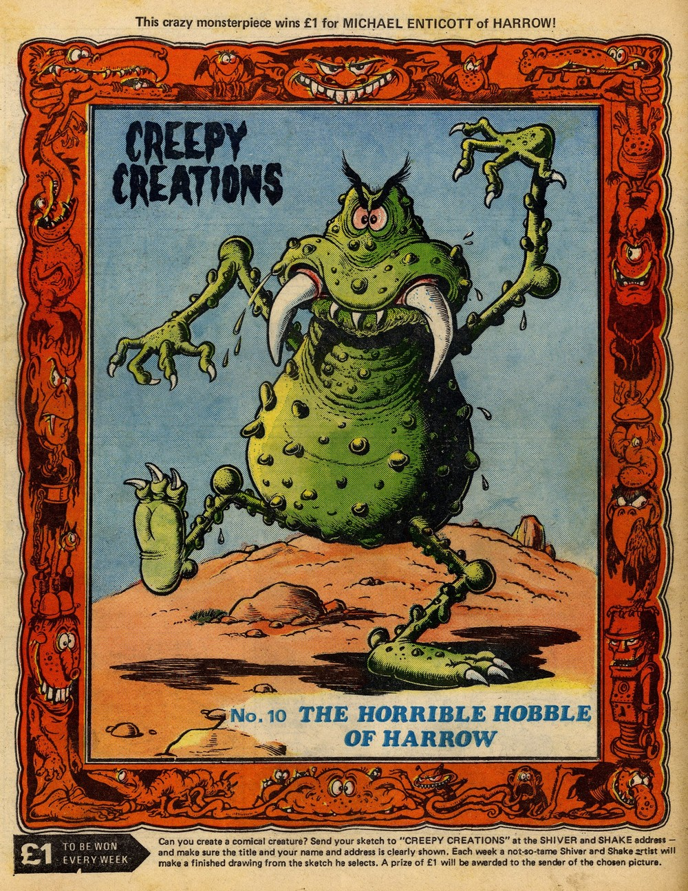 Creepy Creations: Ken Reid (artist)