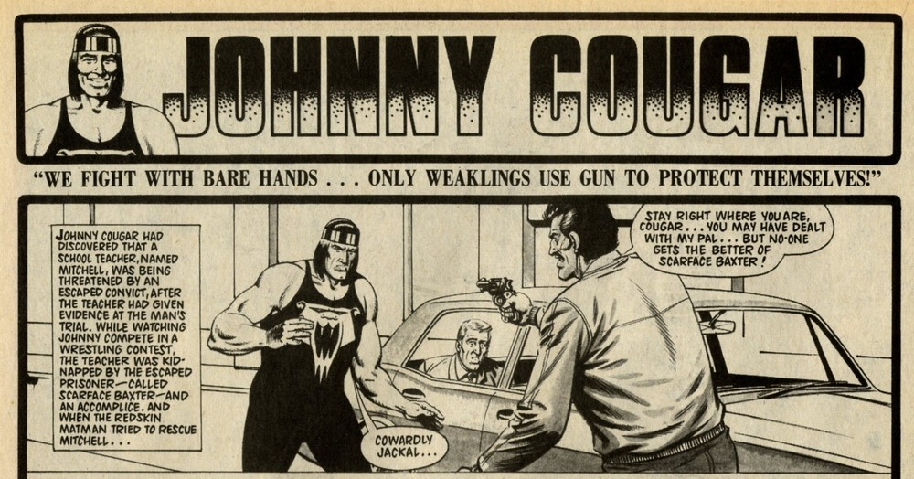 Johnny Cougar: Barrie Tomlinson (writer), Sandy James (artist)