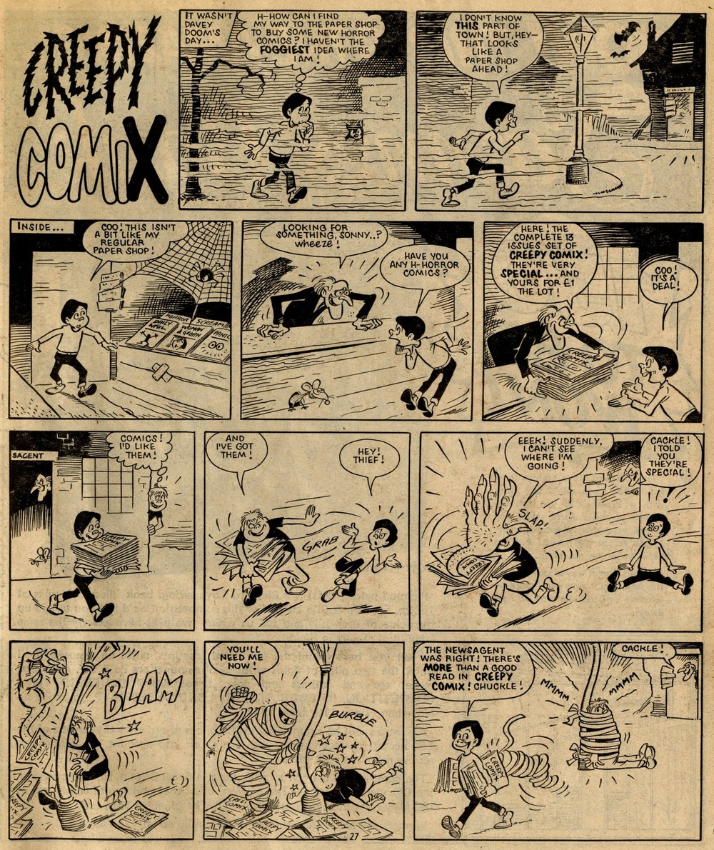 Creepy Comix: Reg Parlett (artist)