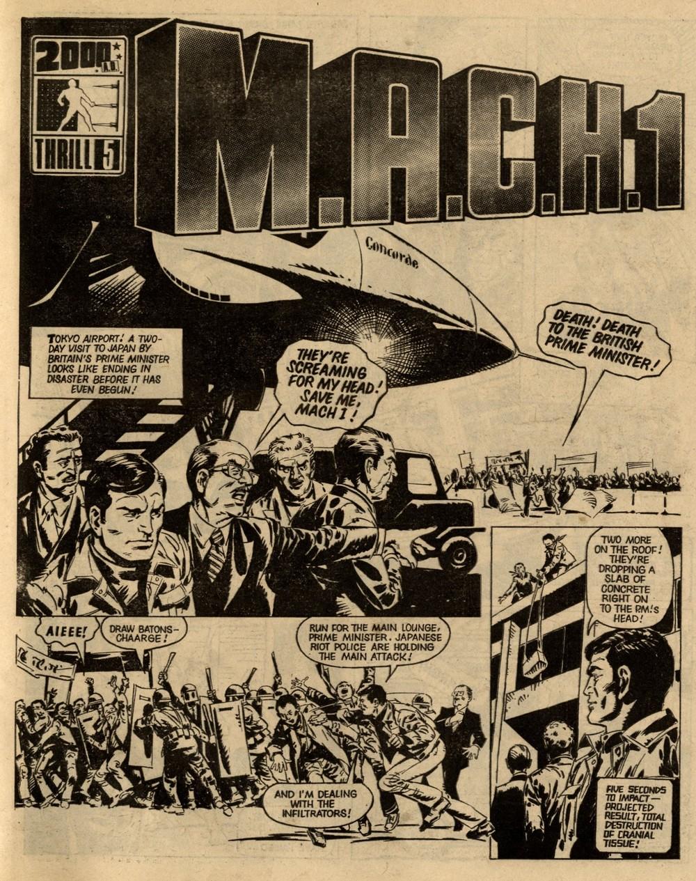 M.A.C.H.1: Steve MacManus (writer), Lopez (artist)