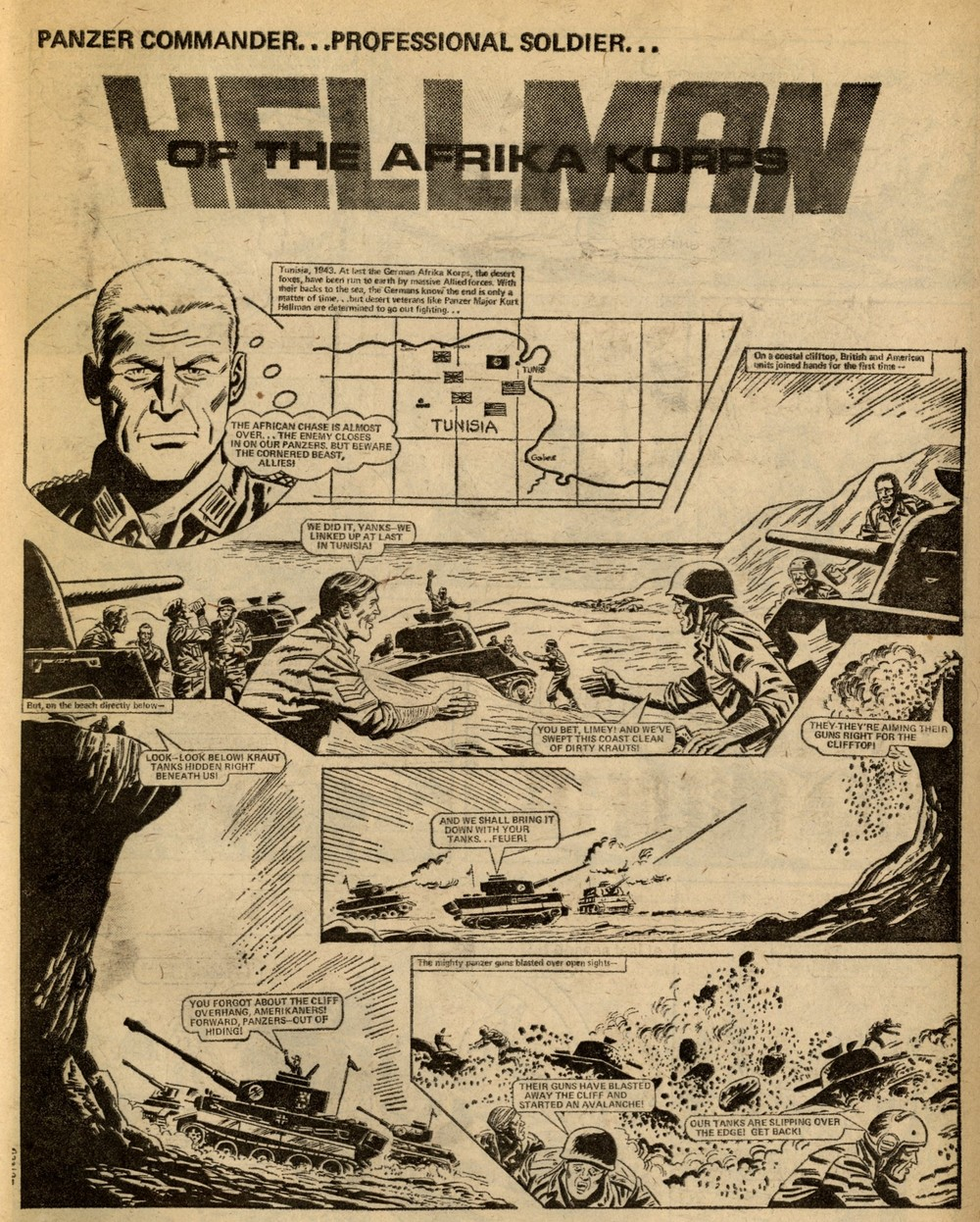 Hellman of the Afrika Korps: Gerry Finley-Day (writer), artist unknown