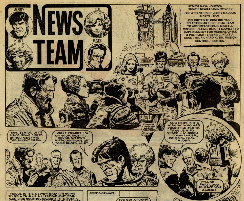 News Team: Alan Hebden (writer), Luis Bermejo (artist)