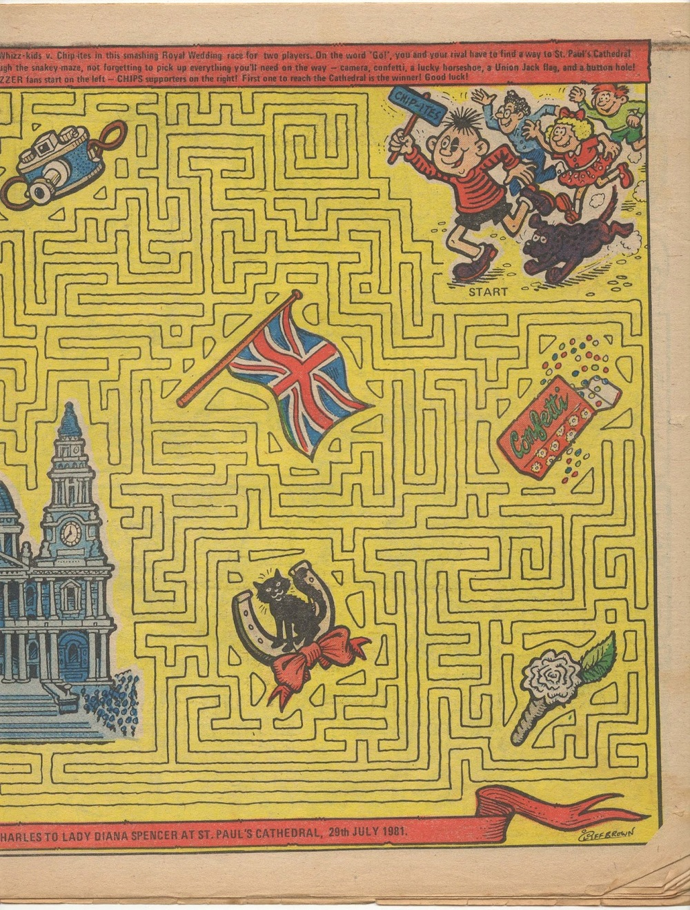 Whizz-kids v Chip-ites Maze Chase: Cliff Brown (artist)
