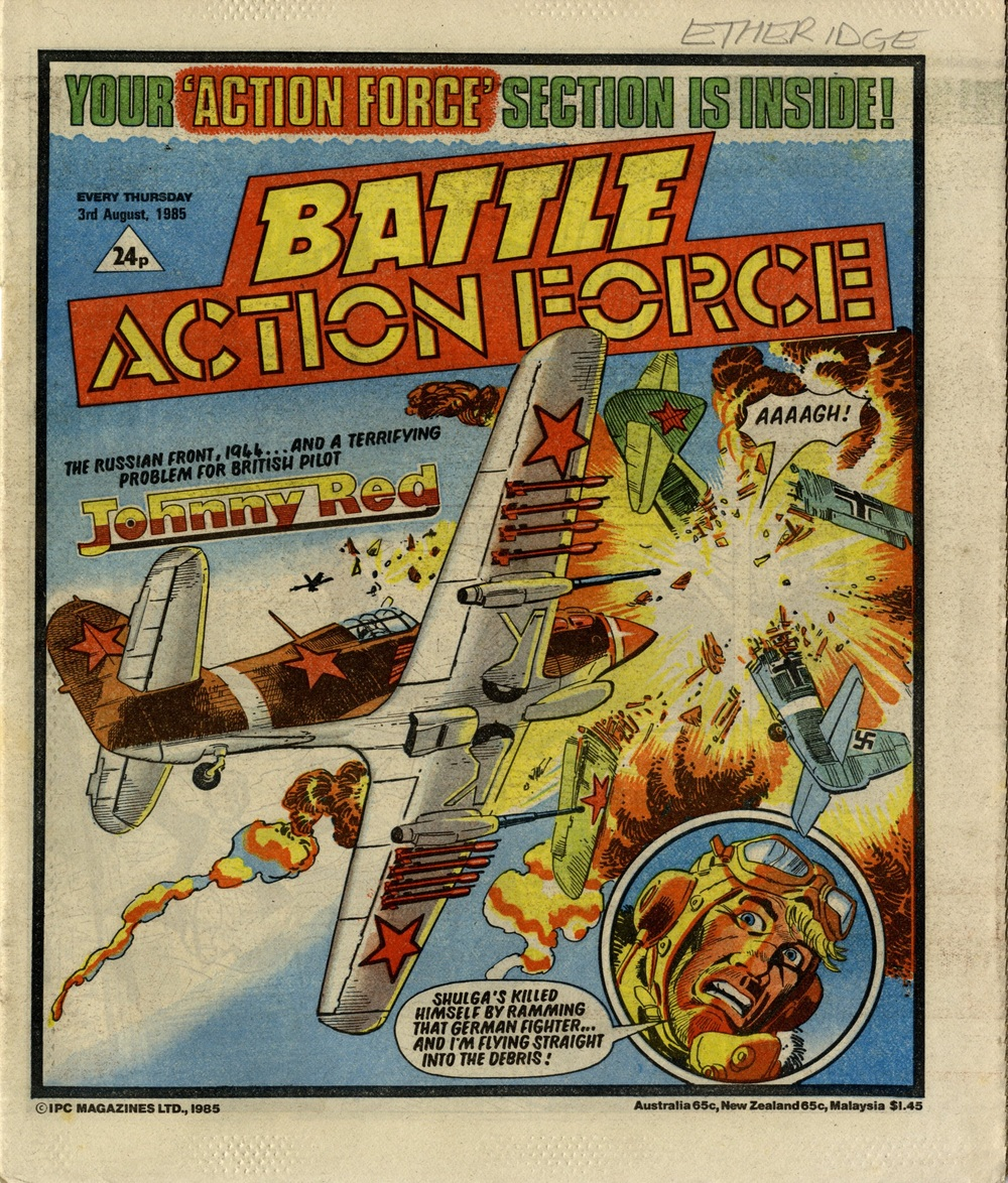 3 August 1985: Battle Action Force (Johnny Red: Tom Tully (writer), Carlos Pino (artist))