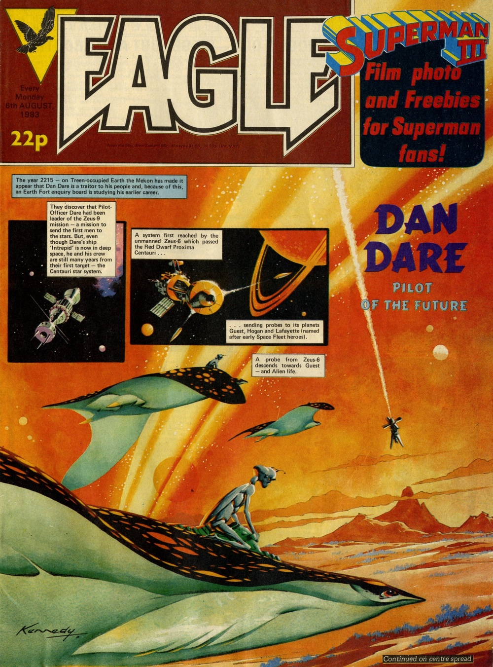 6 August 1983: Eagle (Dan Dare: Pat Mills (writer), Ian Kennedy (artist))