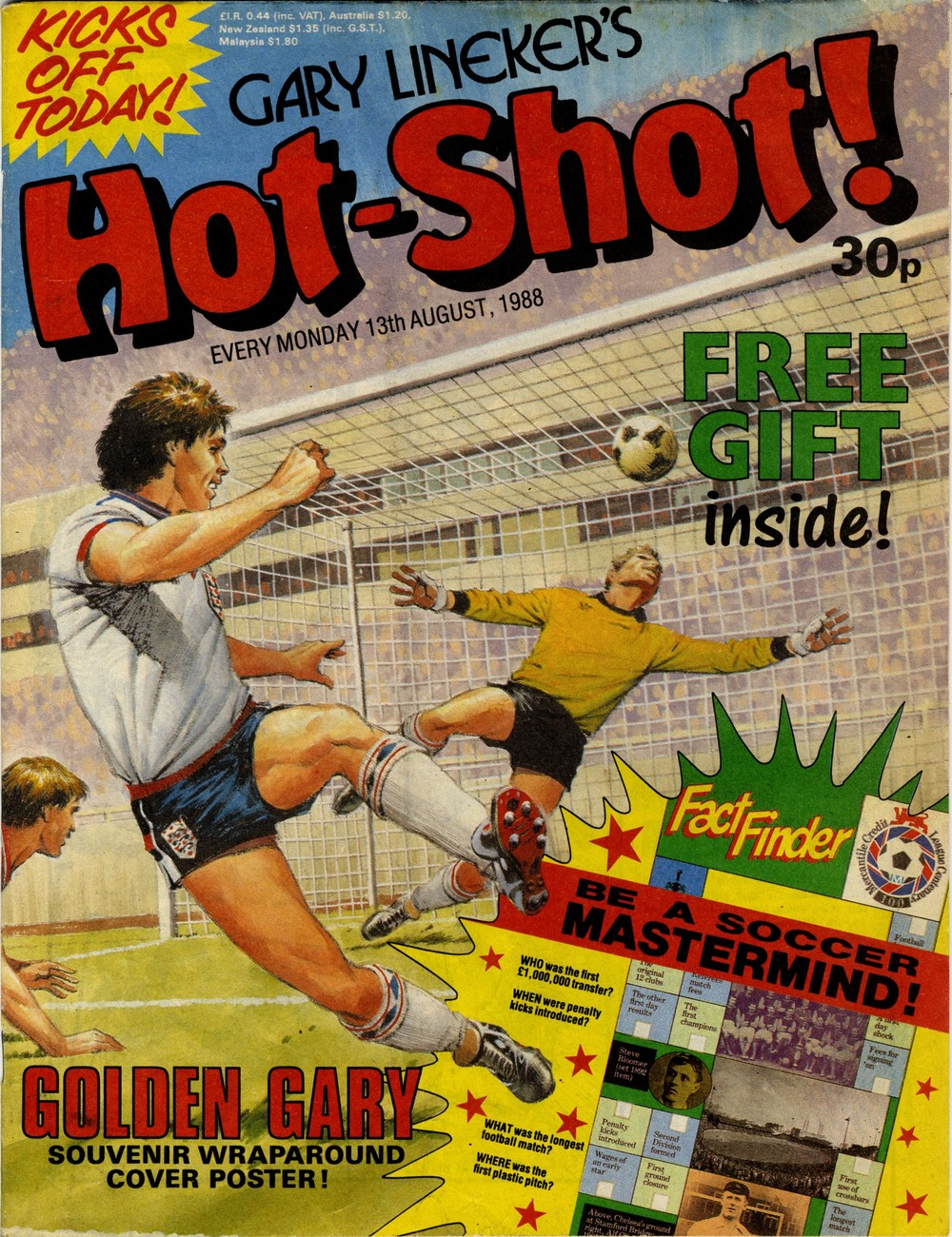 13 August 1988: Gary Lineker's Hot-Shot (Ian Kennedy? (artist))