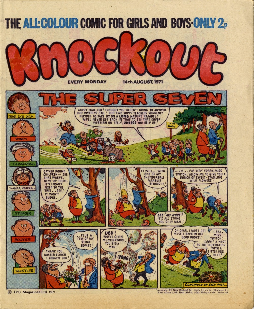 14 August 1971: Knockout (The Super Seven: Mike Lacey (artist))
