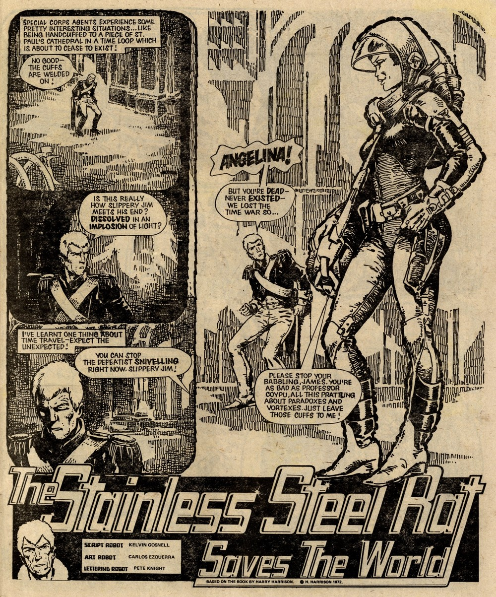 The Stainless Steel Rat Saves the World: Kelvin Gosnell (writer, adapted from Harry Harrison), Carlos Ezquerra (artist)
