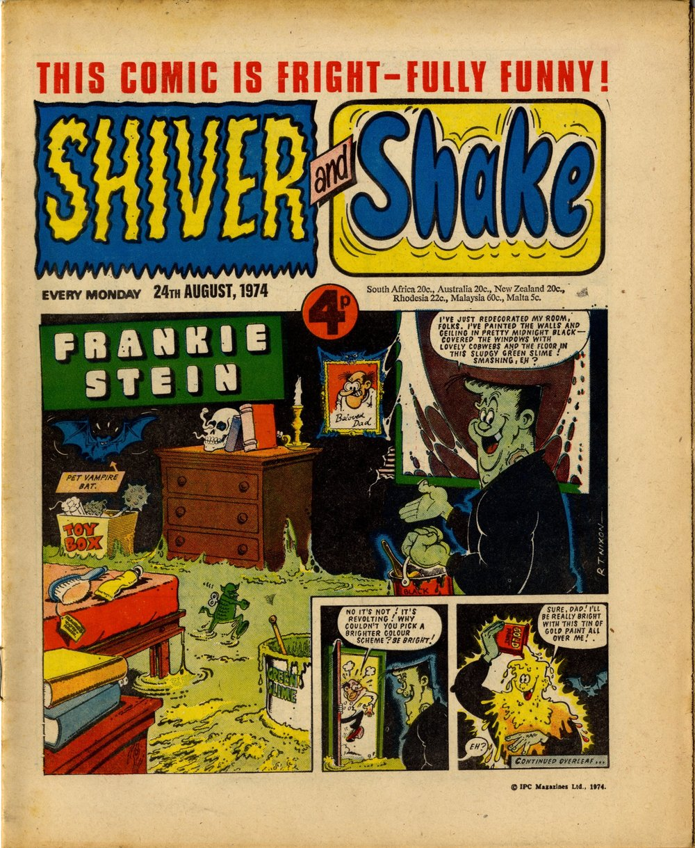 24 August 1974: Shiver and Shake (Frankie Stein: Robert Nixon (artist))