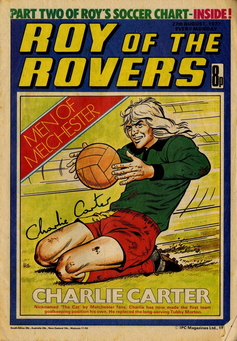 27 August 1977: Roy of the Rovers  (David Sque (artist))