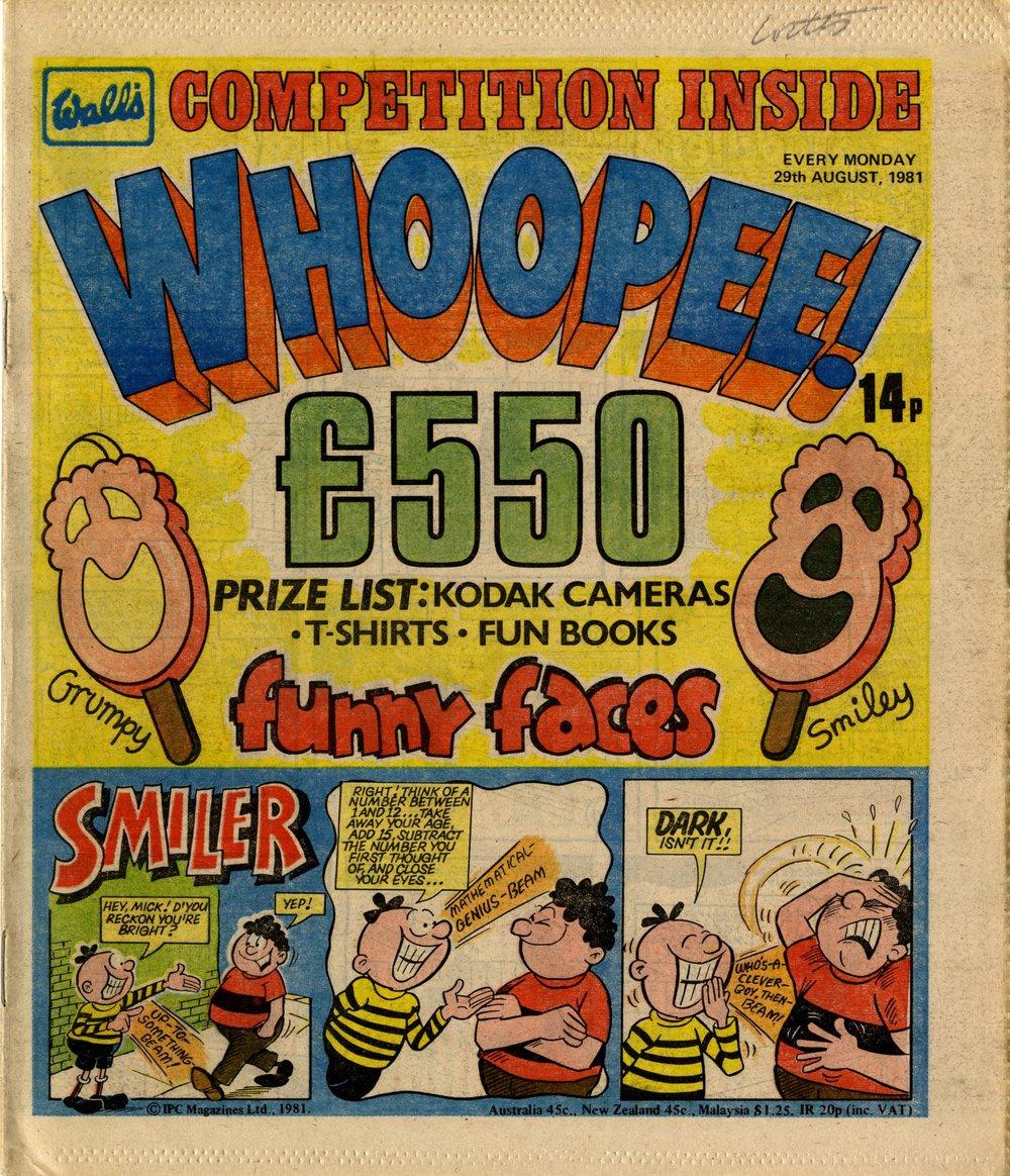 29 August 1981: Whoopee! (Smiler: Nick Baker (artist))