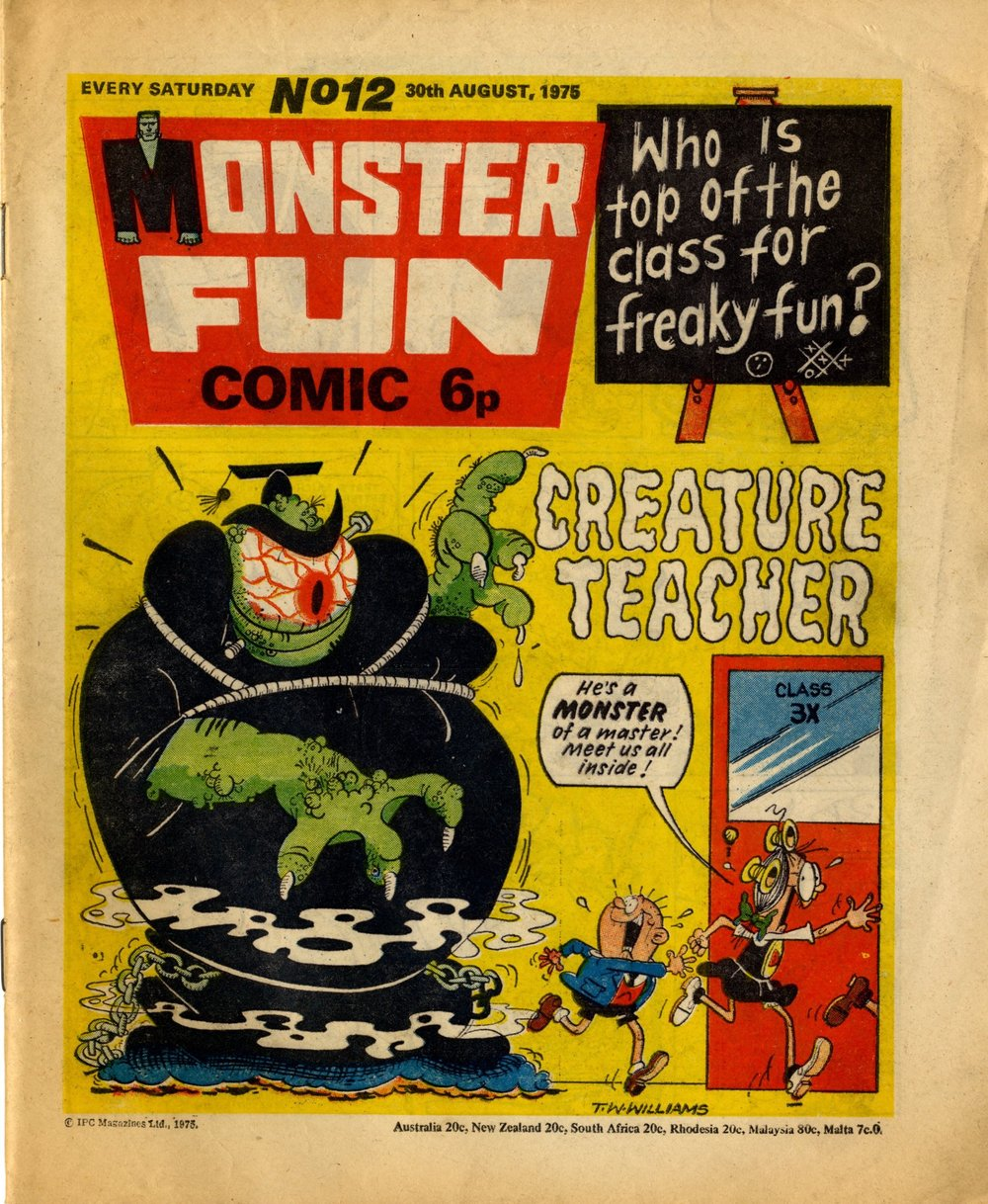 30 August 1975: Monster Fun (Creature Teacher: Tom Williams (artist))