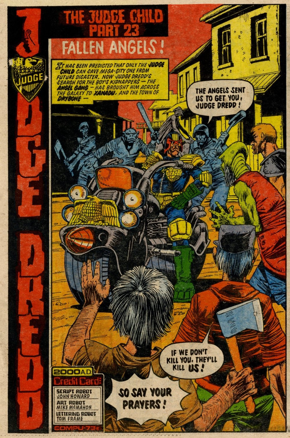 Judge Dredd: John Wagner and Alan Grant (writers), Mike McMahon (artist)