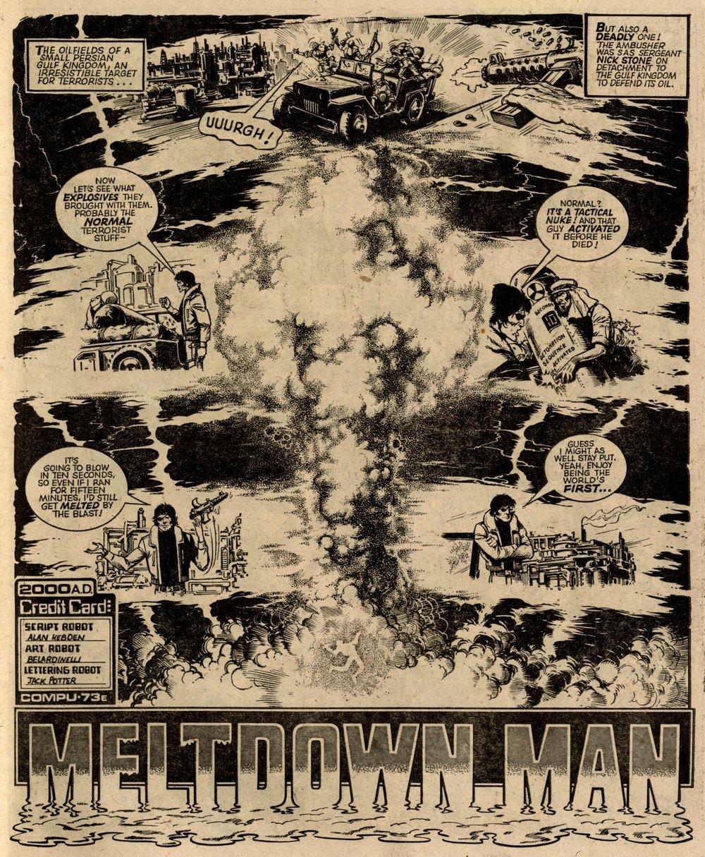 Meltdown Man: Alan Hebden (writer), Massimo Belardinelli (artist)
