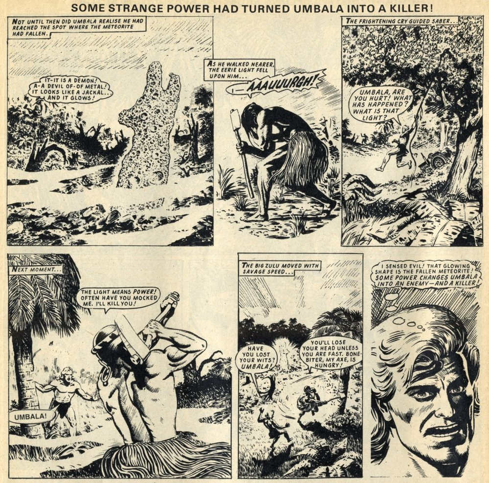 Saber – King of the Jungle (reprinted from Tiger, 1968): Denis McLoughlin (artist)