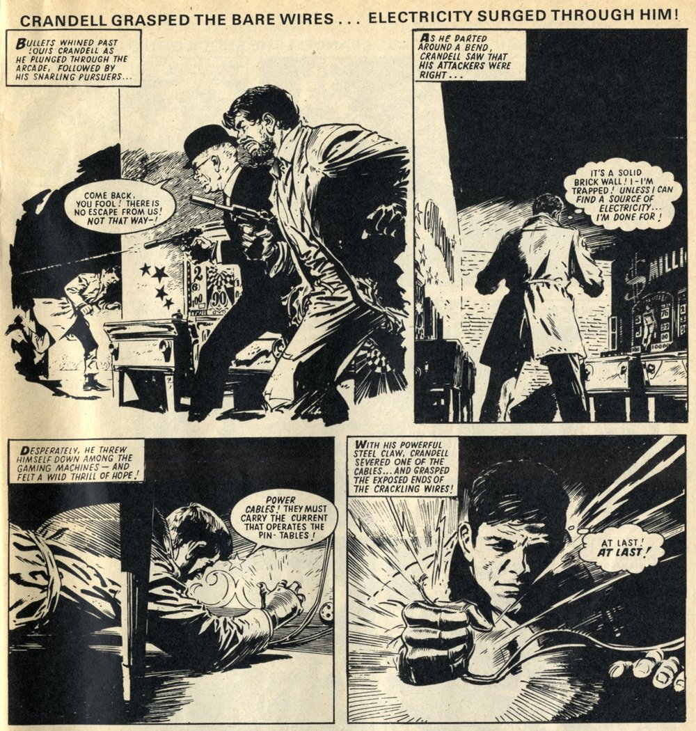 The Steel Claw (reprinted from Valiant, 1964): Tom Tully (writer), Jesus Blasco (artist)