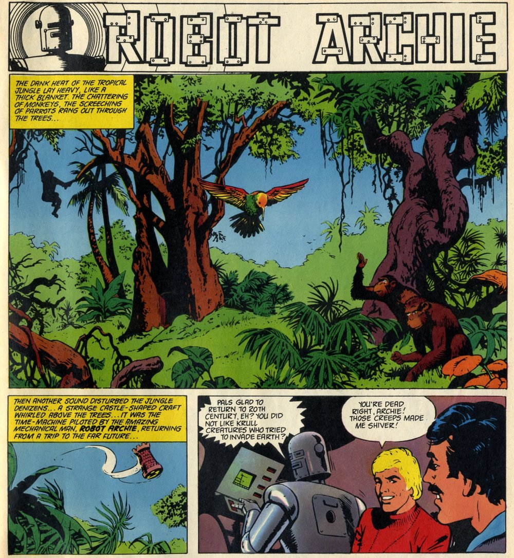 Robot Archie (reprinted from Lion, 1969): E. George Cowan (writer), Bert Bus (artist)