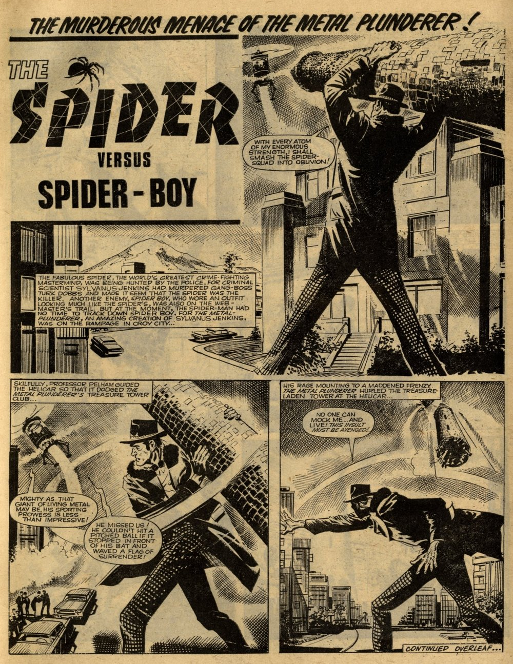 The Spider: Jerry Siegel (writer), Reg Bunn (artist)