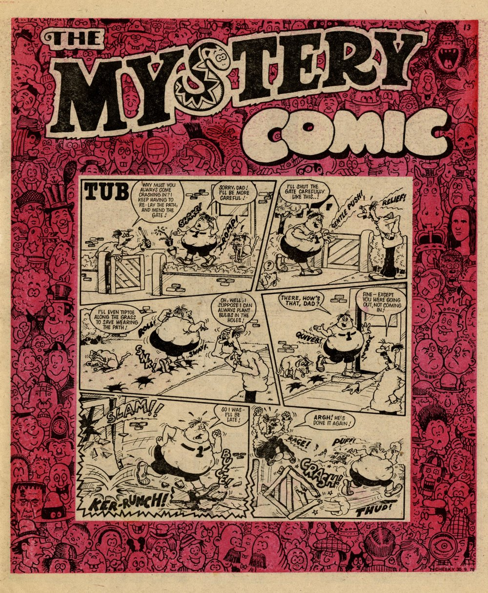 The Mystery Comic border: Ed McHenry (artist); Tub: Nigel Edwards (artist)