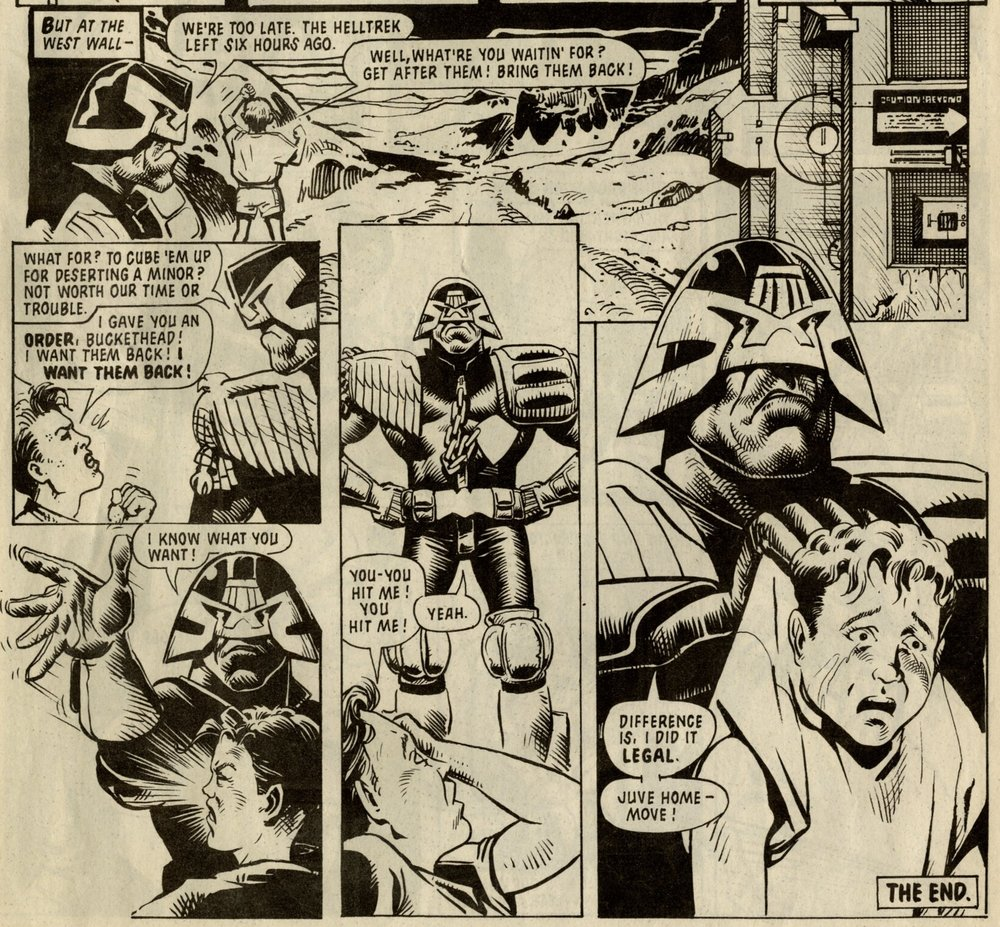Judge Dredd: John Wagner and Alan Grant (writers), Liam Sharp (artist)