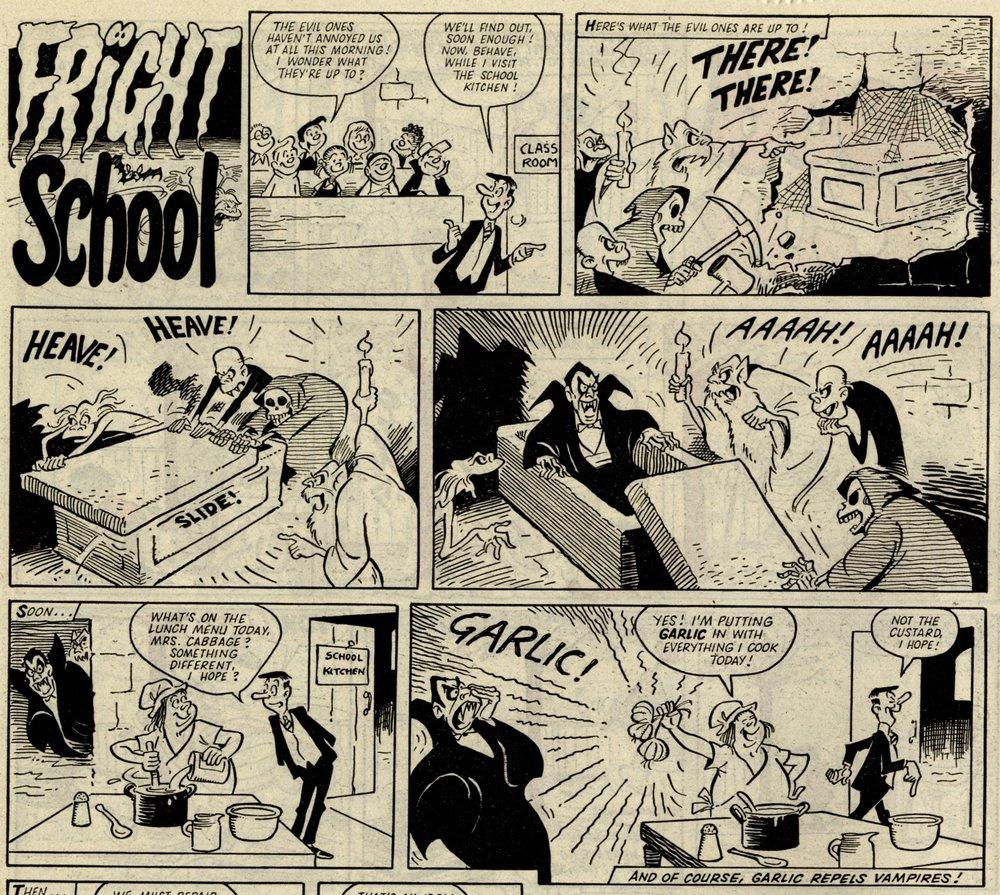 Fright School: Reg Parlett (artist)
