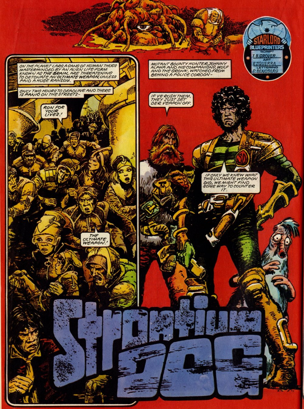 Strontium Dog: John Wagner and Alan Grant (writers), Carlos Ezquerra (artist)