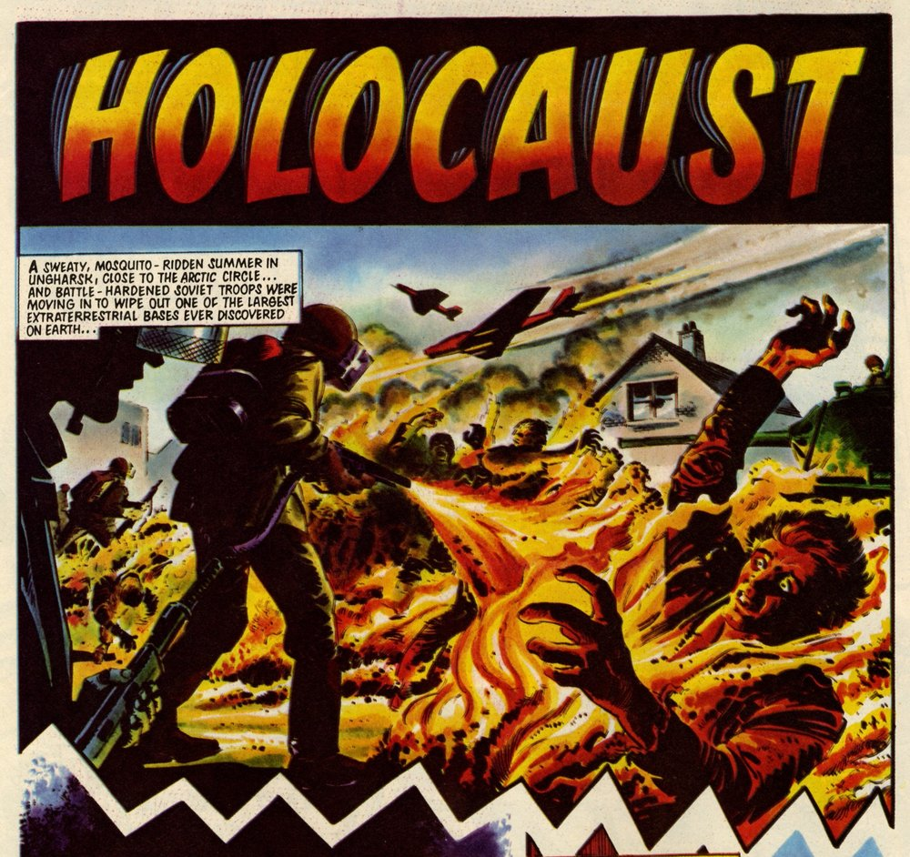 Holocaust: Alan Hebden (writer), Mike White (artist)