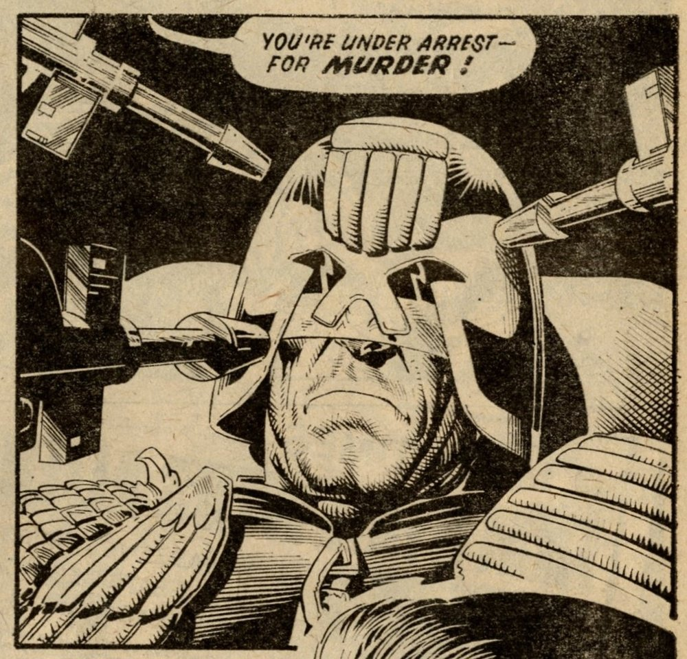 Judge Dredd: John Wagner (writer), Brian Bolland (artist)