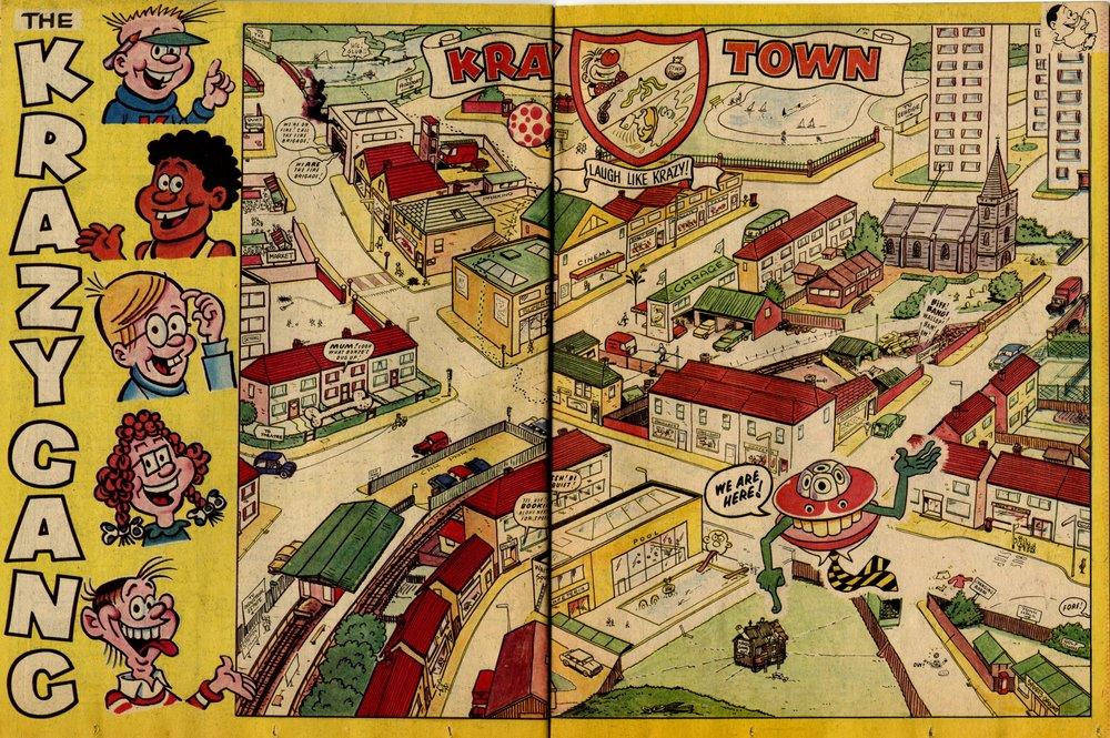 Krazy Town illustration: Terry Bave (artist)