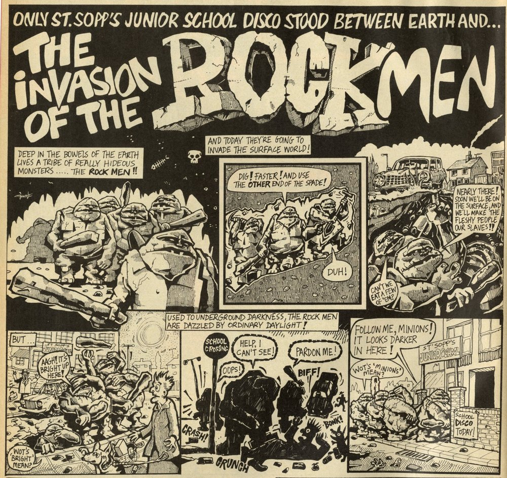 The Invasion of the Rock Men: artist unknown