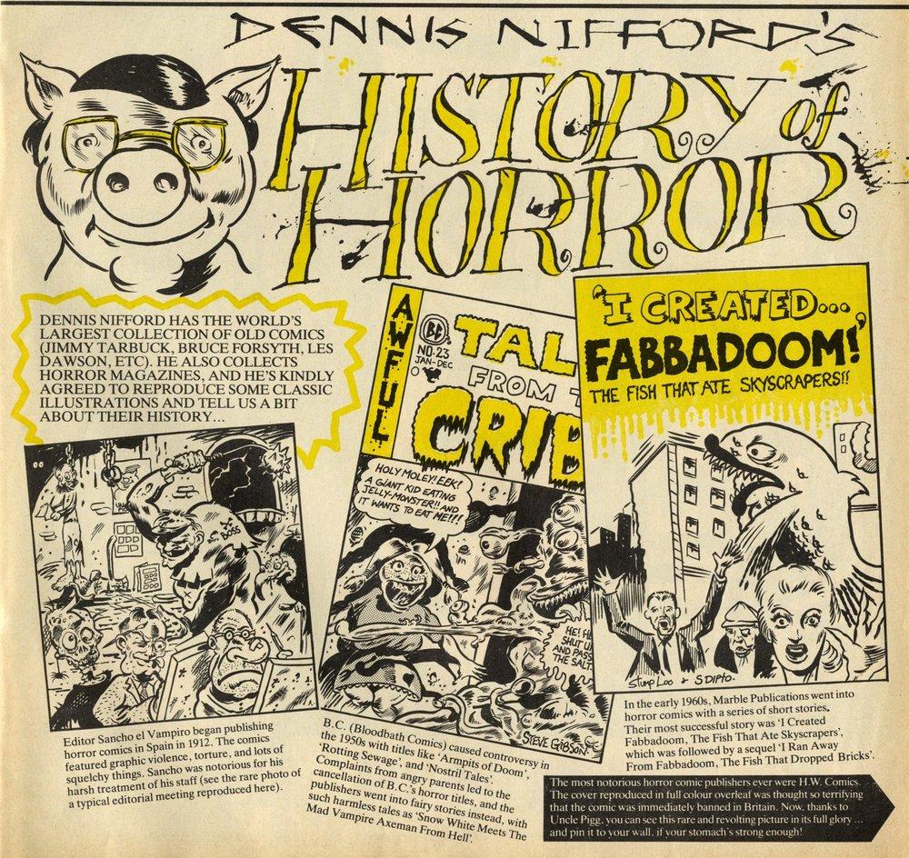 Dennis Nifford's History of Horror: Steve Gibson (artist)