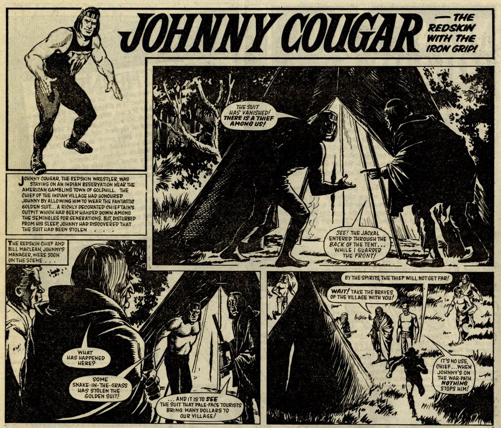 Johnny Cougar, reprinted from Tiger: Barrie Tomlinson (writer),  John Gillatt (artist)