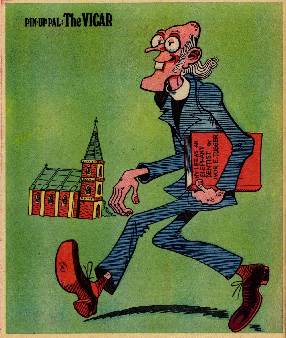 Pin-up Pal: The Vicar (artist Frank McDiarmid), 11 March 1978