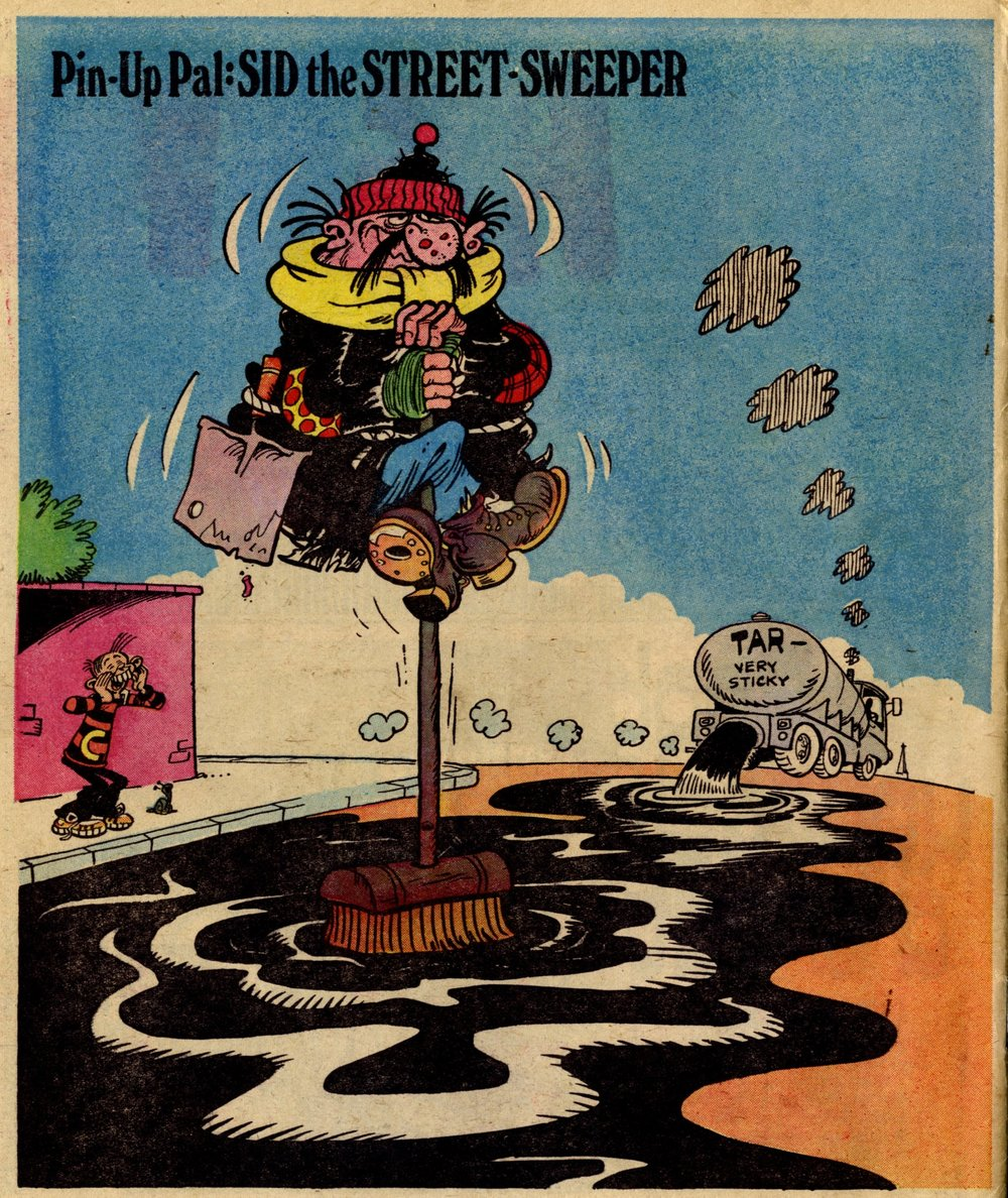Pin-up Pal: Sid the Street-sweeper (artist Frank McDiarmid), 8 April 1978