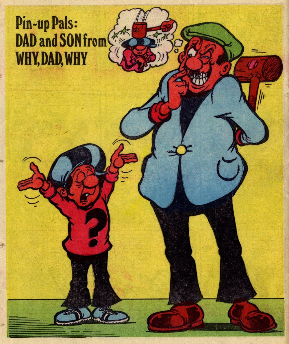 Pin-up Pal: Dad and Son, from Why, Dad, Why? (artist John Geering), 10 March 1979