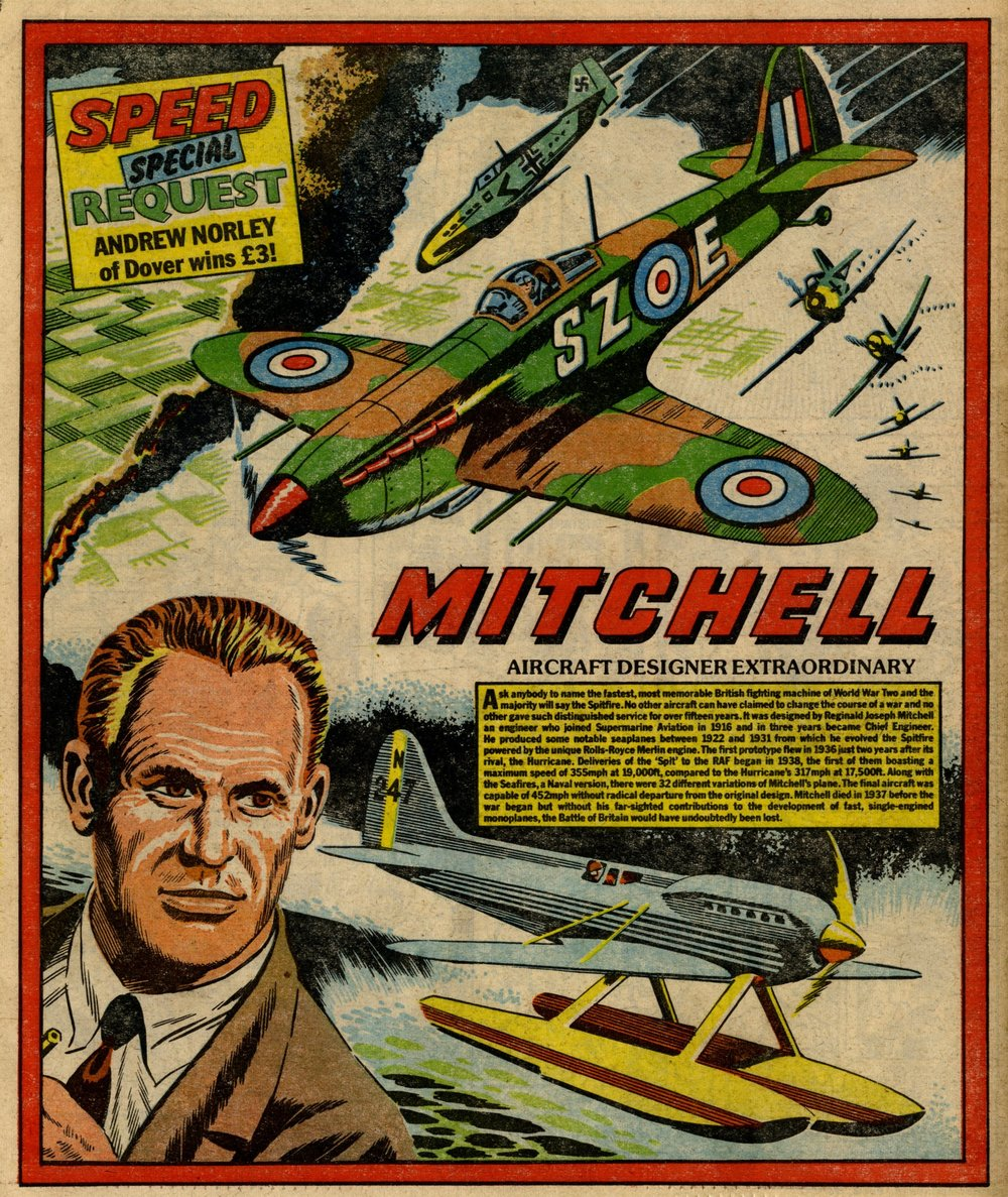 Reginald Mitchell poster: Ron Turner (artist)