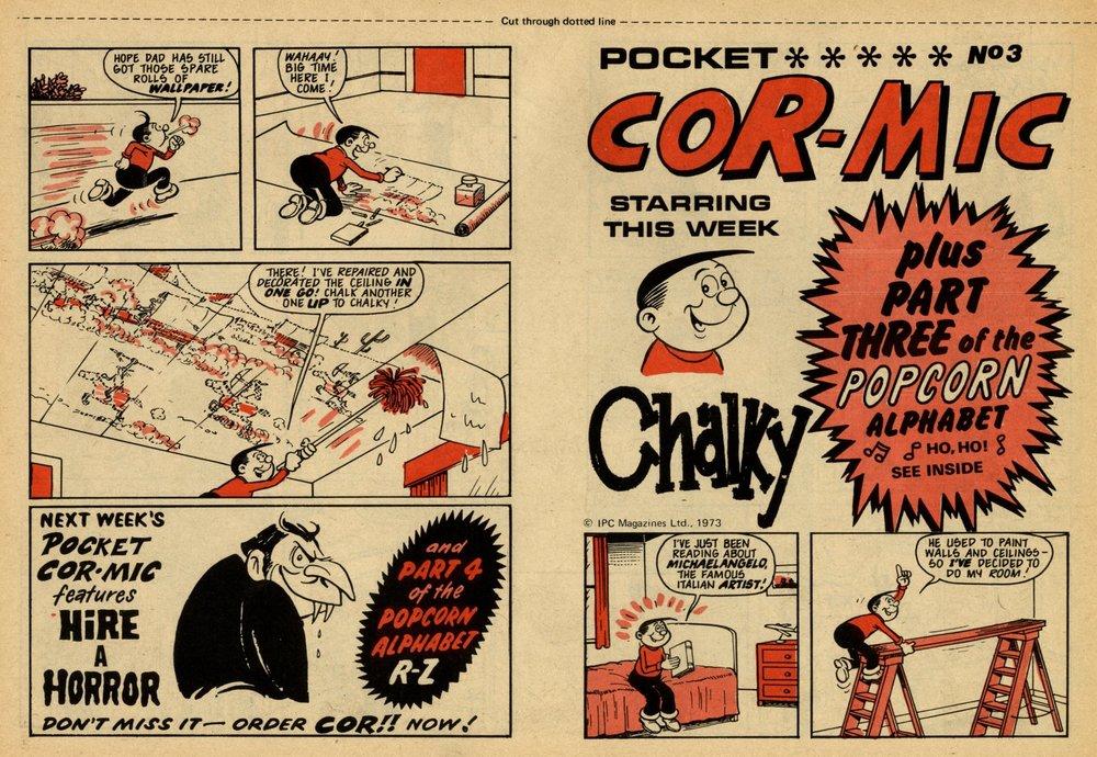 Pocket Cor-mic: Chalky: Arthur Martin? (artist)