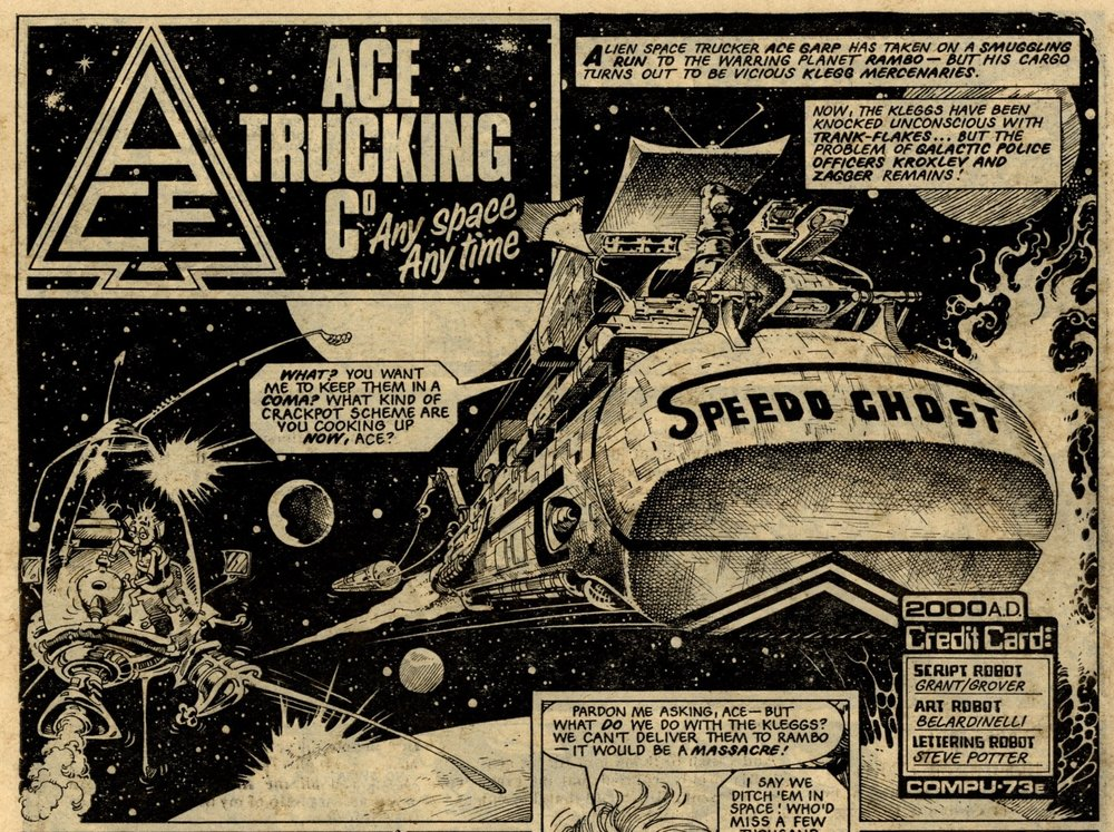 Ace Trucking Co: John Wagner and Alan Grant (writers), Massimo Belardinelli (artist)
