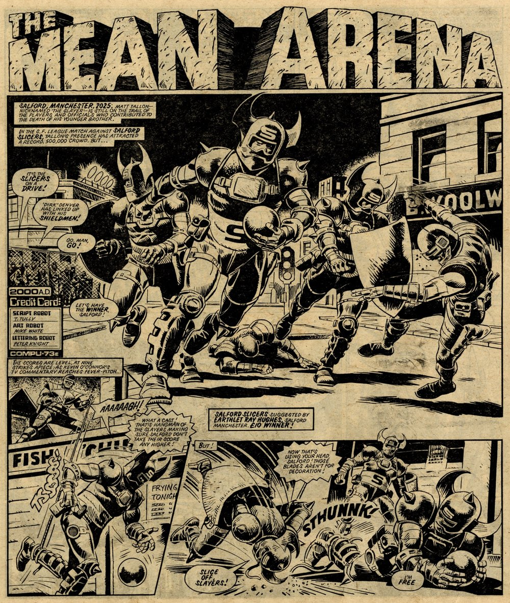 The Mean Arena: Tom Tully (writer), Mike White (artist)