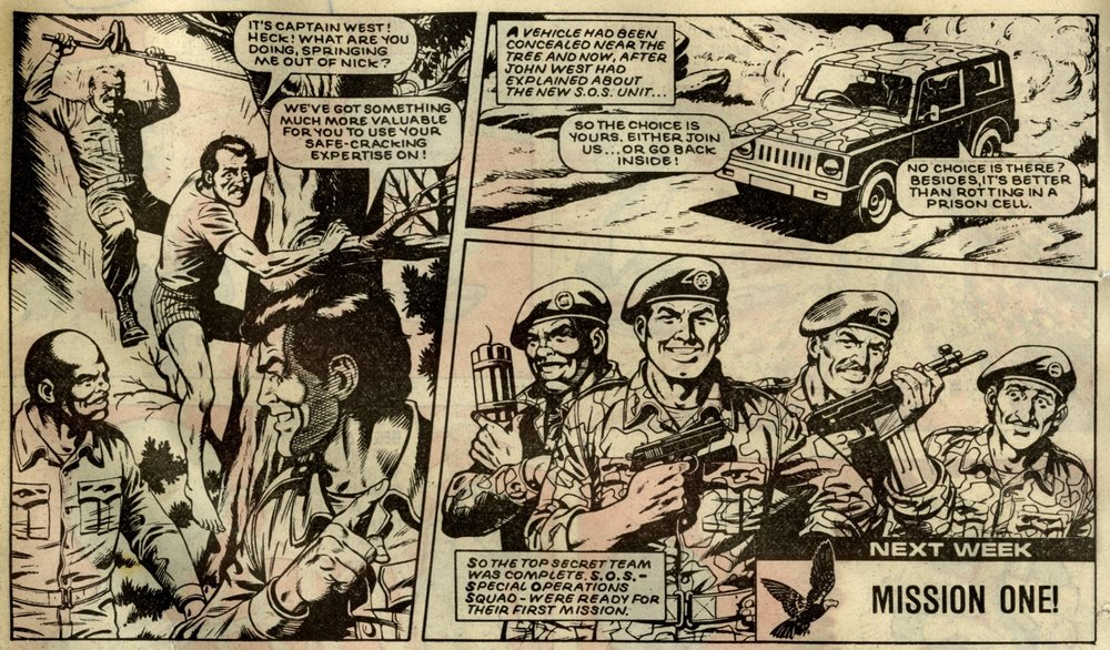 S.O.S. Special Operations Squad: Barrie Tomlinson (writer), Sandy James (artist)