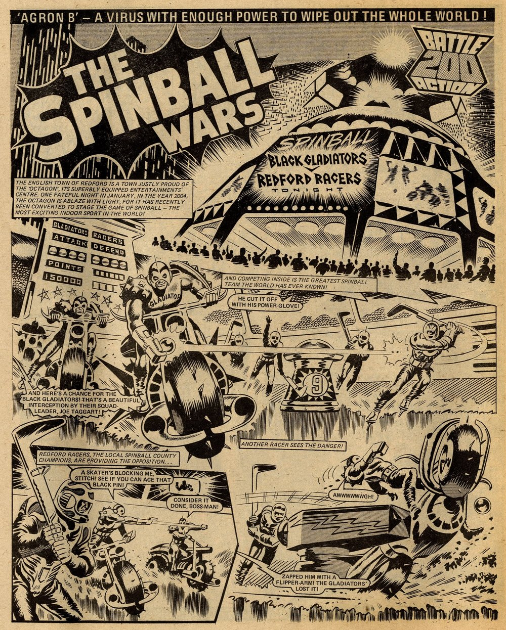 The Spinball Wars: Tom Tully (writer), Ron Turner (artist)