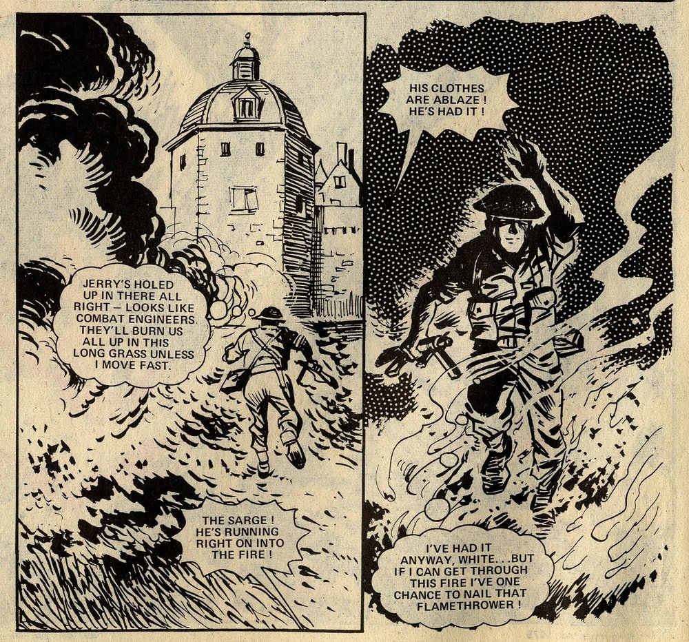 D-Day Dawson: 'Man on Fire!': John Wagner and Pat Mills (writers), Geoff Campion (artist)