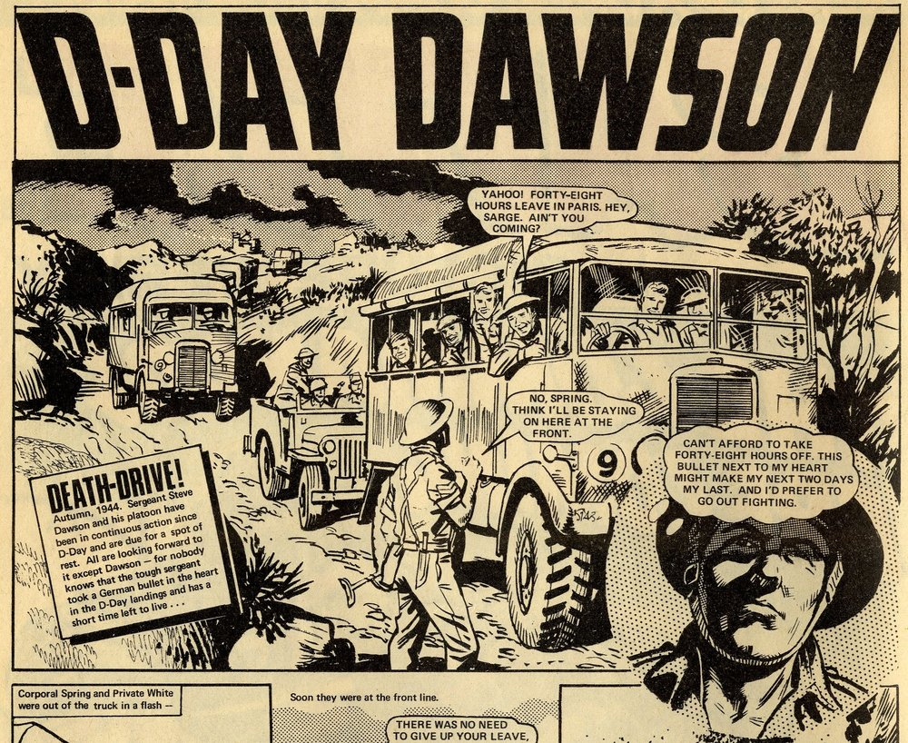 D-Day Dawson: 'Death-Drive!': John Wagner and Pat Mills (writers), Geoff Campion (artist)