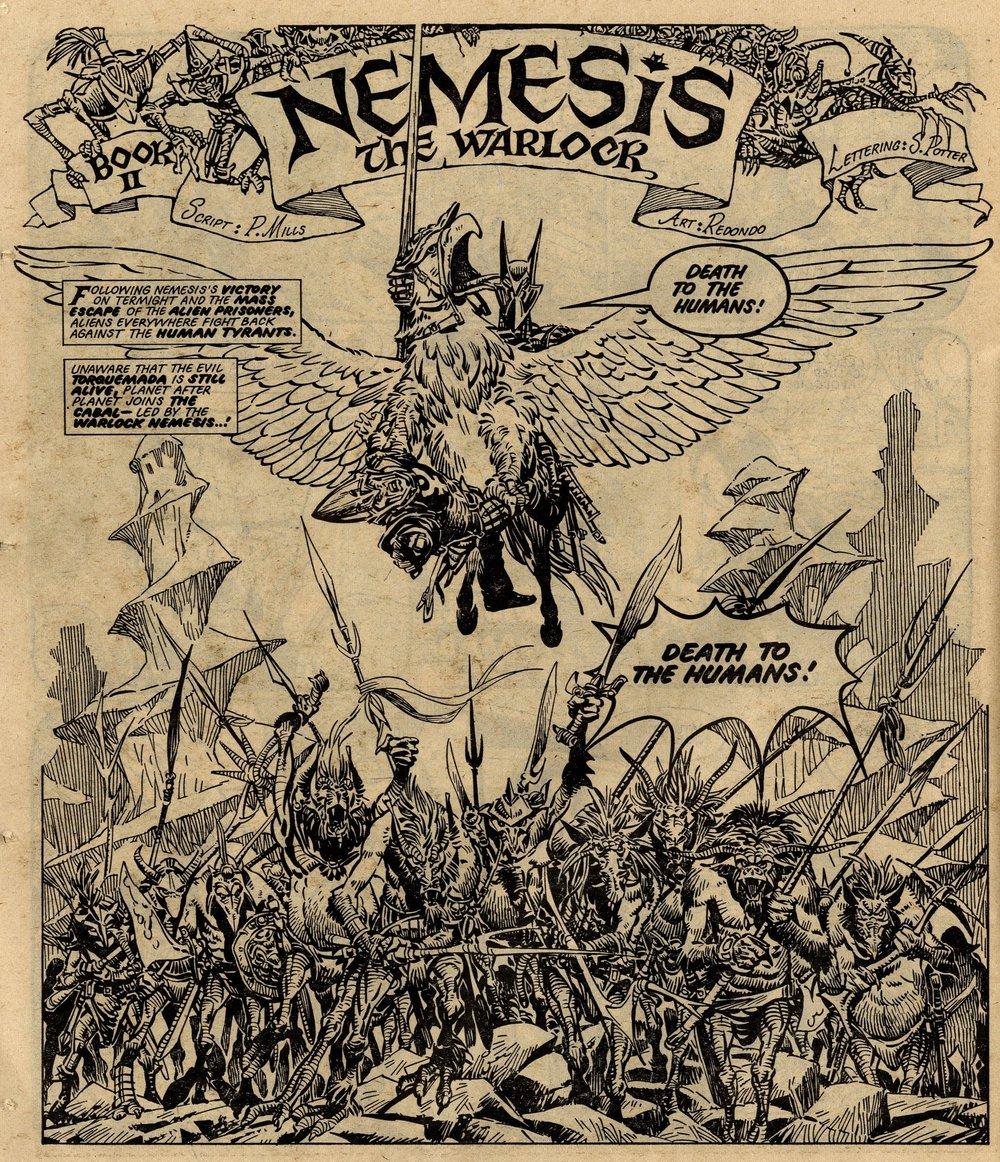 Nemesis the Warlock: Pat Mills (writer), Jesus Redondo (artist)