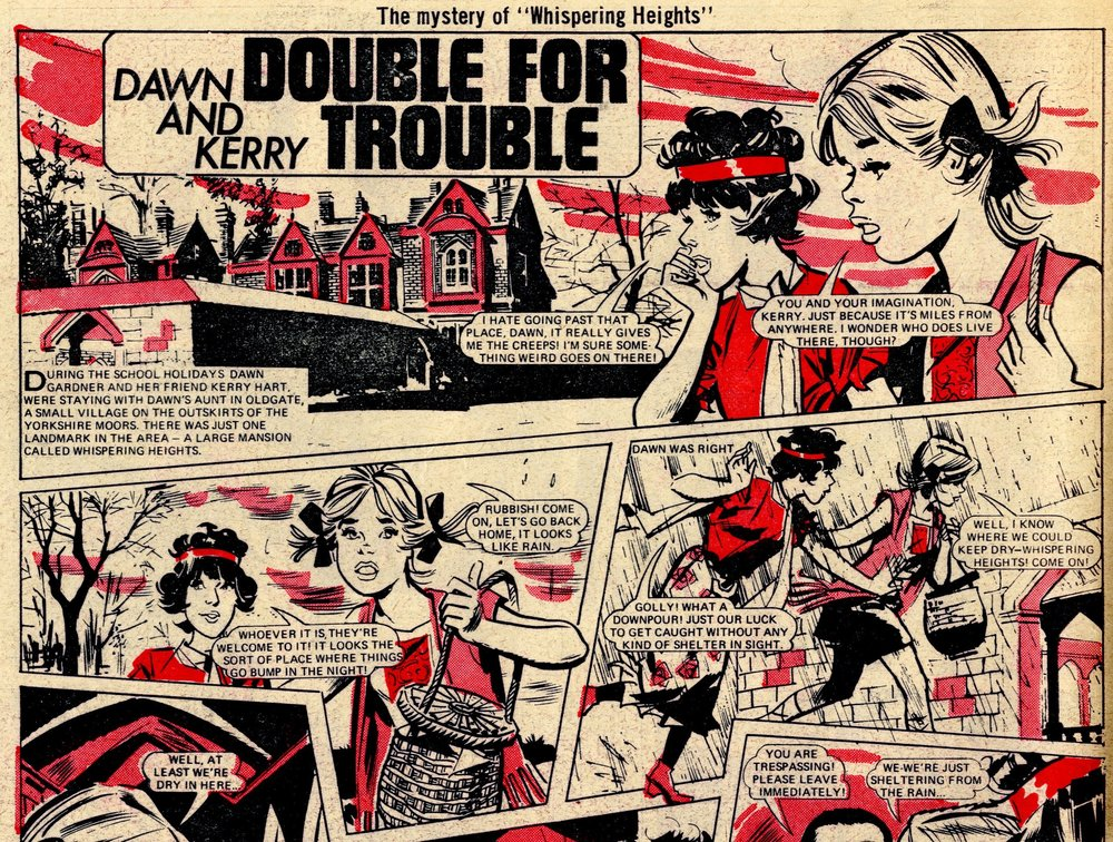 Dawn and Kerry: Double for Trouble: Maureen Spurgeon (writer), Giorgio Letteri (artist)