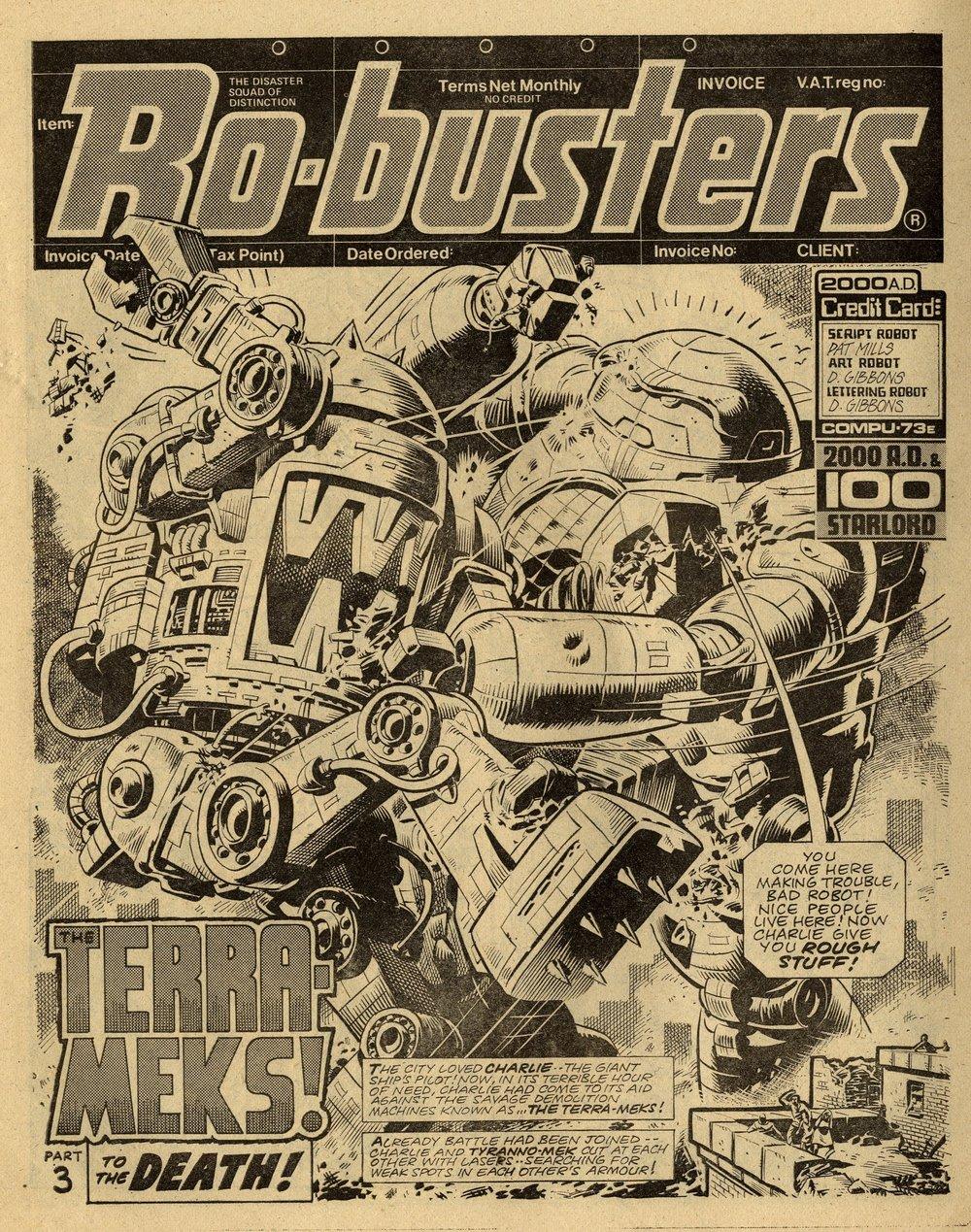Ro-busters: 'The Terra-meks': Pat Mills (writer), Dave Gibbons (artist)