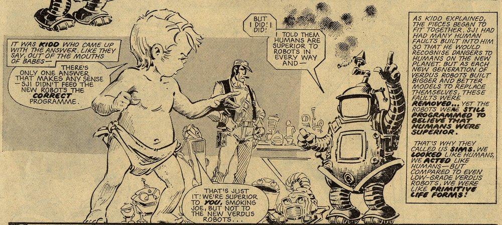 Robo Hunter: 'Verdus': John Wagner (writer), Ian Gibson (artist)