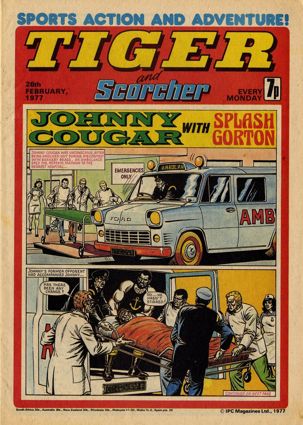 Johnny Cougar with Splash Gorton: Barrie Tomlinson (writer), Sandy James (artist)